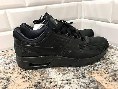 Nike Air Max Zero Essential Black Triple Black Rare Mens SZ 8 Running 876070 006 | eBay