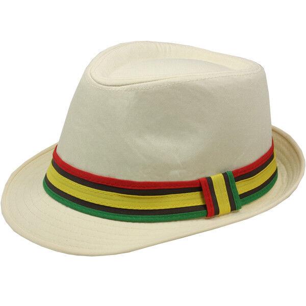 d84f0af53 RAINBOW Men Women Fedora Hat Trilby Cuban Style Upturn Short Brim Cap Hat  Panama