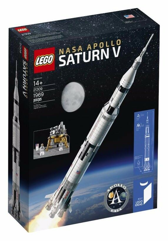 NEW & SEALED LEGO IDEAS NASA Saturn Apollo V 5 Set
