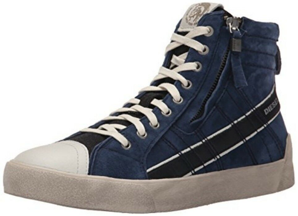 Diesel D String Plus   Y01169 P0852 H2057 High Top Sneaker Navy Men SZ 7 - 11