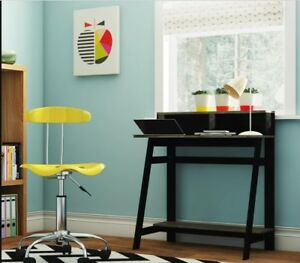 size 40 c29d9 3c2bd Details about Compact Small Laptop Desk Home Study Bedroom Dorm Student  Room Wood Office Shelf