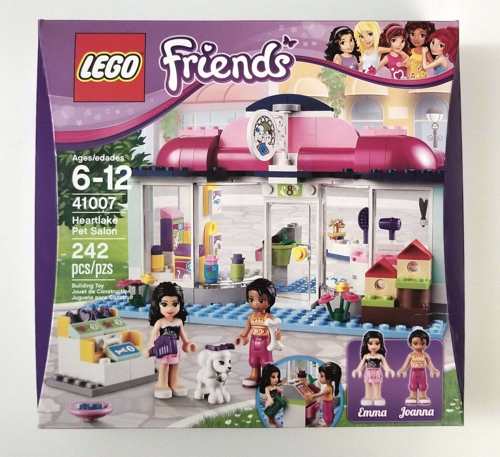 New Sealed 2013 LEGO Friends Heartlake Pet Salon Emma Joanna 41007 RetiROT