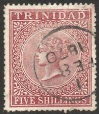 TRINIDAD: 1869 Sg 87 5/ Rose Lake Good Used Example (33258)