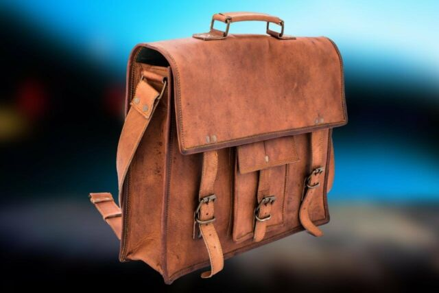 a4b6b264663 15 Inch Laptop Computer Bag 100 Distressed Goat Leather Men Women Shoulder  Fit