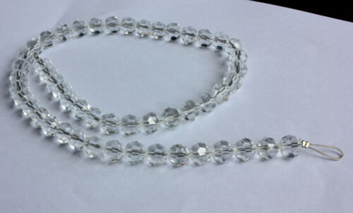 21/'/' L GLASS 10mm Curtain CRYSTAL CHANDELIER LAMP PART GARLAND Silver Wire CHAIN
