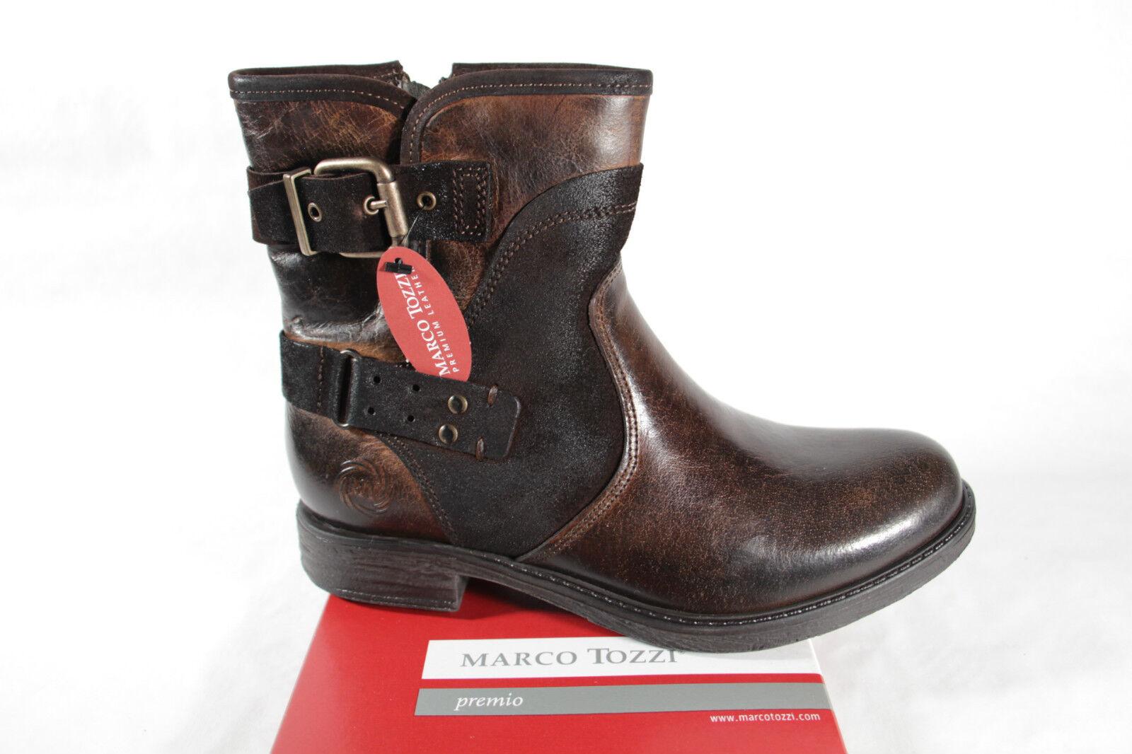 Marco marrón Tozzi Botas, señora botas, Botas, Tozzi botín, marrón Marco oscuro 2070cf