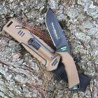 StatGear Surviv-All Outdoor Knife with Firestarter, Sharpener & Cord Cutter