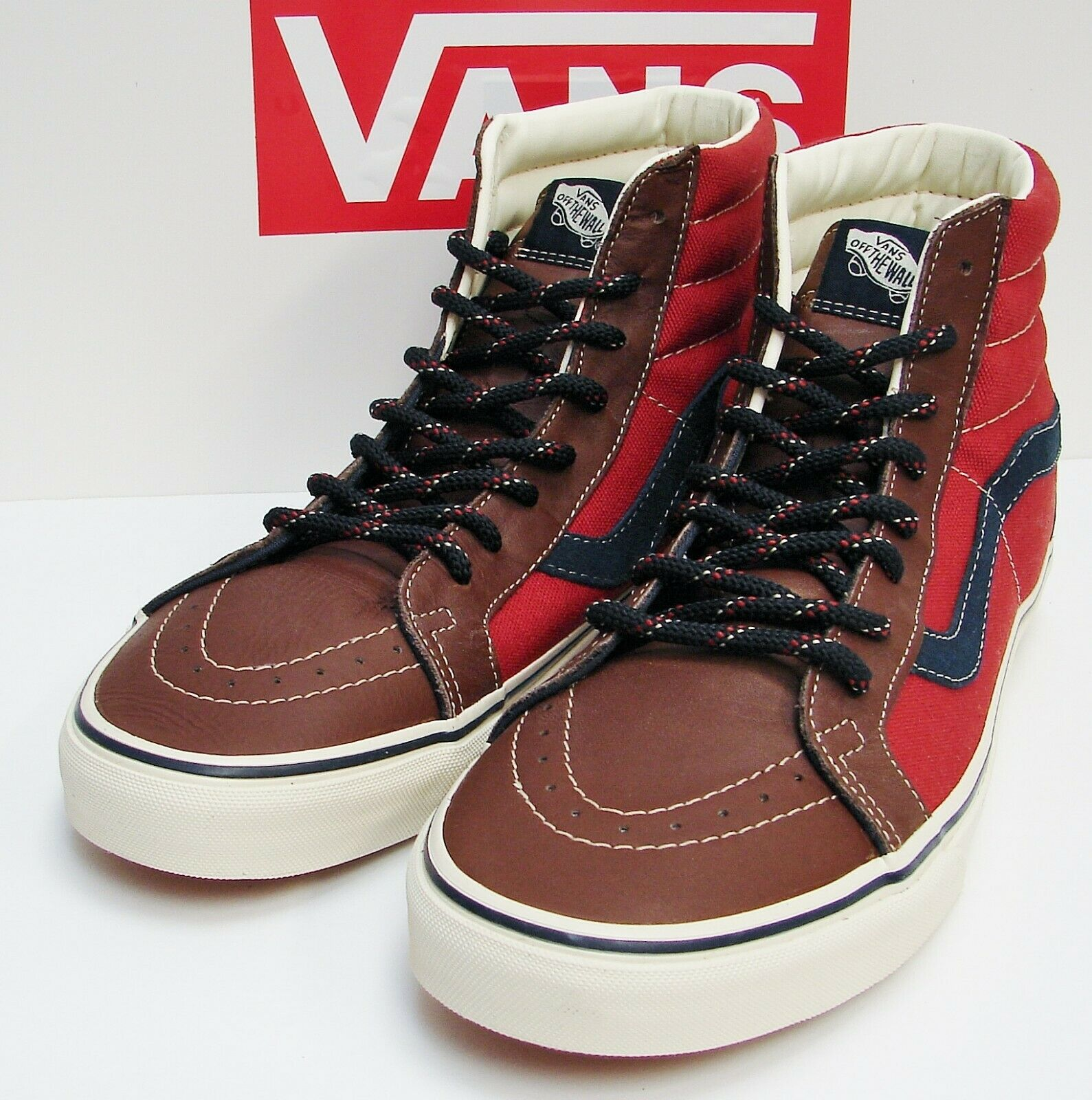VANS Sk8-HI Reissue (Leather & 14 OZ) Cappuccino VN-0QG2B4A Men's size  11.5