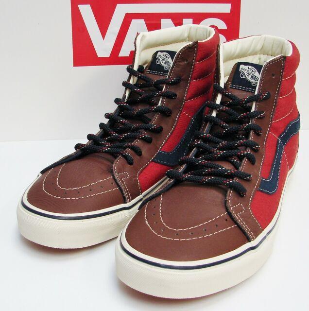 Vans Sk8 Hi Reissue (Leather & 14 Oz) Cabernet