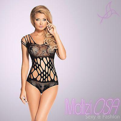 Body Donna intimo Sexy Lingerie Rete NERO hot Pizzo Floreale MaliziOSA