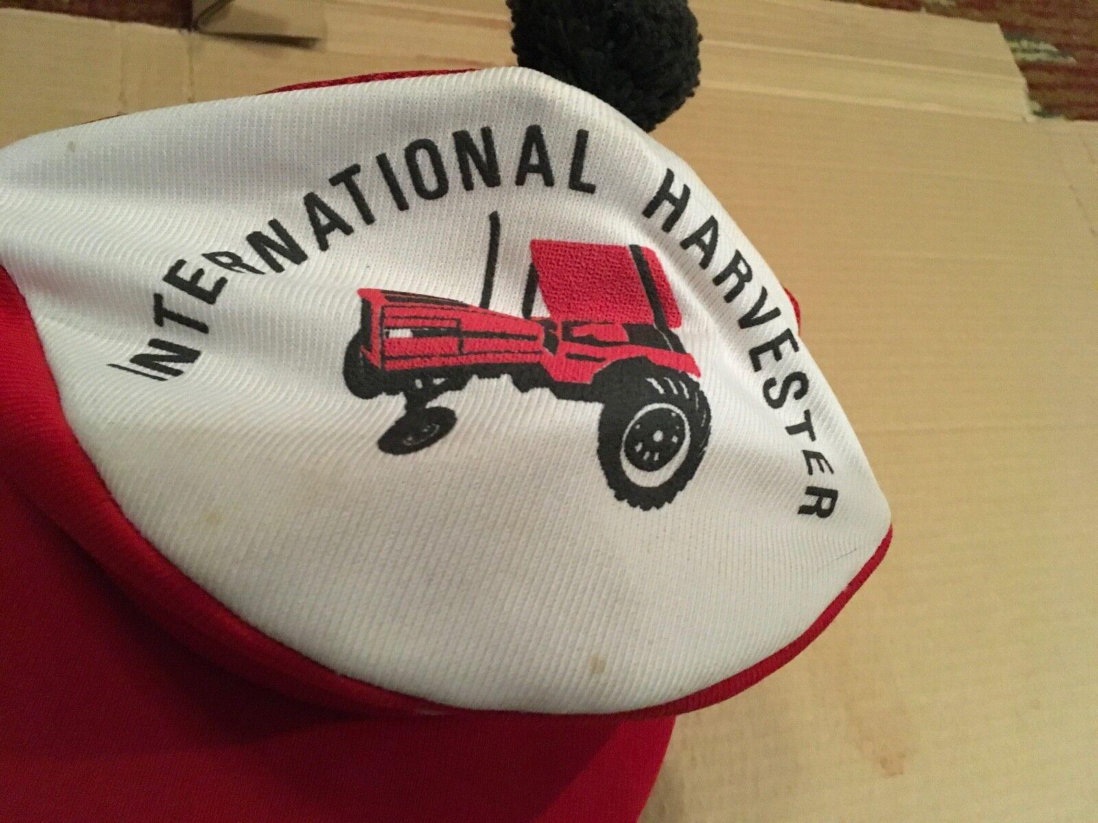 Vintage International Harvester Tartan Tam Cap Re… - image 2