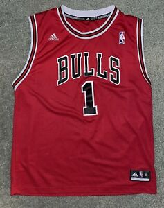 Details about Adidas Chicago Bulls Derrick Rose Adidas Jersey Youth Size XL Fits Men's Med