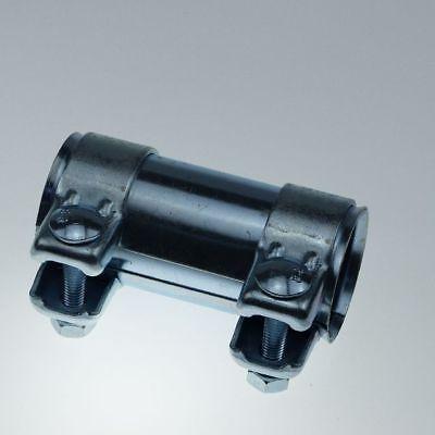 Reparatur Verbinder Auspuffrohr für Ø46mm-Rohre 90mm lang verzinkt