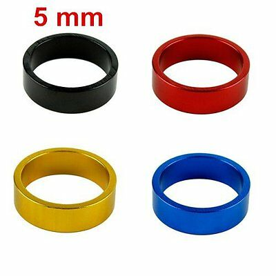 New 5mm Aluminum Mountain Road Bike Bicycle Cycling Headset Stem Spacer 4 Colors