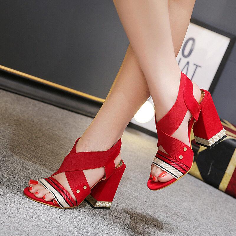 Sandali eleganti rosso 11 cm tacco quadrato comodi comodi comodi simil  pelle eleganti 9868 51a4e9 c4ceeb9d1a3