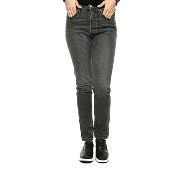a214271c Levis 501 SKINNY Jeans Women's Size 32x32 Button Fly Grey Black ...