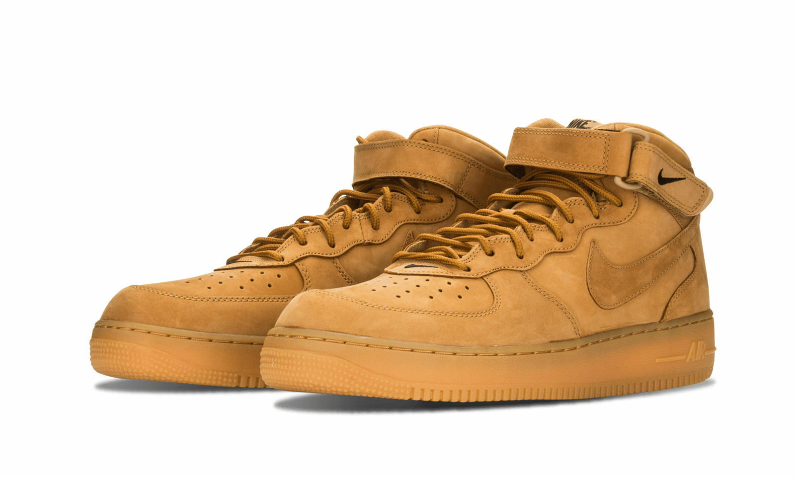 New Nike Air Force 1 Mid '07 PRM QS Flax Wheat Size 9.5 715889 200