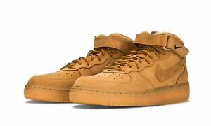 New Nike Air Force 1 Mid  07 PRM QS Flax Wheat Size 9.5 715889 200 ... f250feec7