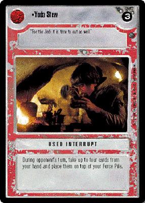 Star Wars CCG JEDI LEVITATION Dagobah