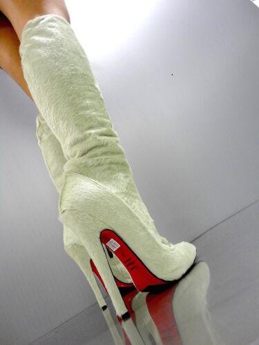 ginocchio Italy al Stivali Mori Verde 45 Stivali Extreme Green Stiefel Mint alti Leather 4ZgwI