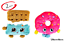 miniature 1 - BonBon Shopkins Plush D Lish Donut Cheeky Chocolate Set And New Figure - 2 Pk