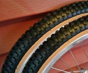 20x1.75 Black BMX Freestyle gumwall tires pair