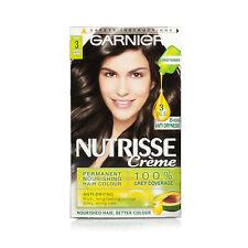 GARNIER Nutrisse CREME 3 Ebony Marrone più scuro colore capelli