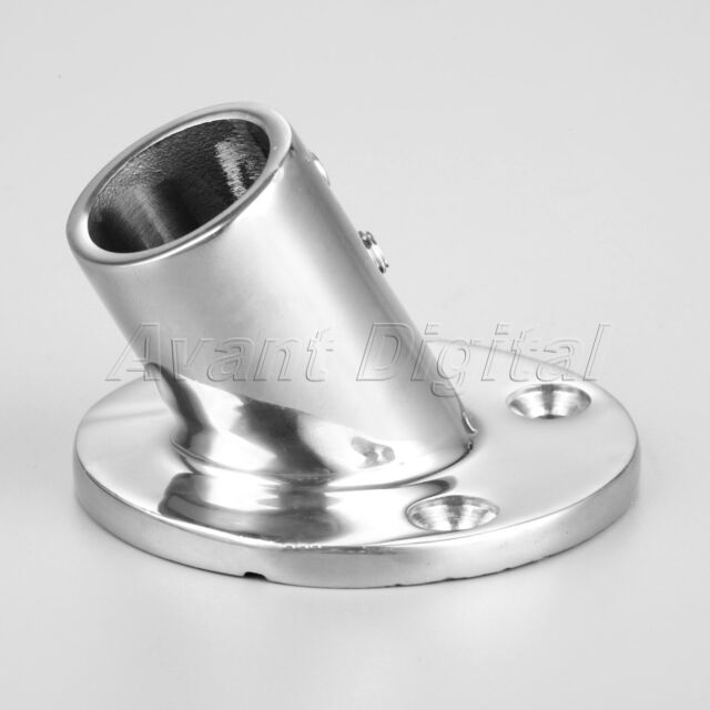 """MARINE BOAT HAND RAIL FITTING 60 DEGREE STAINLESS STEEL 7//8"""" 22mm ROUND BASE"""