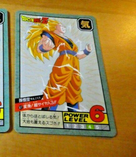 DRAGON BALL Z DBZ SUPER BATTLE POWER PART 16 CARDDASS CARD CARTE 677 JAPAN NM