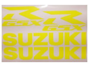 Details Zu Suzuki Gsxr Premium Aufkleber Set Gsxr Premium Sticker Set Gelb Neon