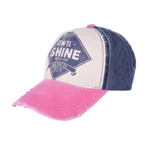 1x Men Women Flat Bill Demin Distressed Cap Vintage Baseball Trucker Hat DSUK