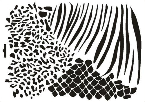 Wandschablone Maler T-shirt Schablone W-223 Felle ~ UMR Design