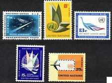 UN / New York office - 1963 Definitives airmail Mi. 128-32 MNH