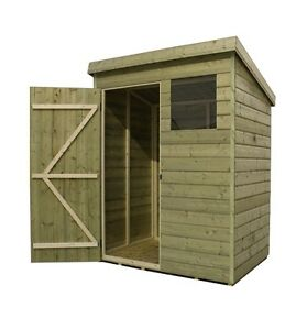 Image Is Loading GARDEN SHED PENT T Amp G PRESSURE TREATED