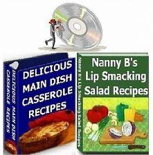 Casserole, Salad & Appetizer Recipes 4 Cookbooks on CD