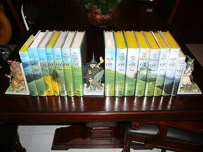 FULL SET OF 14 WIZARD OF OZ BOOKS ~ REPLICA OF ORIGINAL BY BRADFORD EXCHANGE