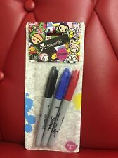 Tokidoki x Sharpie: 3 Color Set: Black, Blue, Red (TK1)