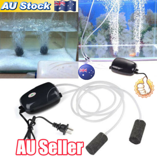 AU 2Pcs Air Bubble Disk Stone Aerator Aquarium Fish Tank Pond Oxygen Pump