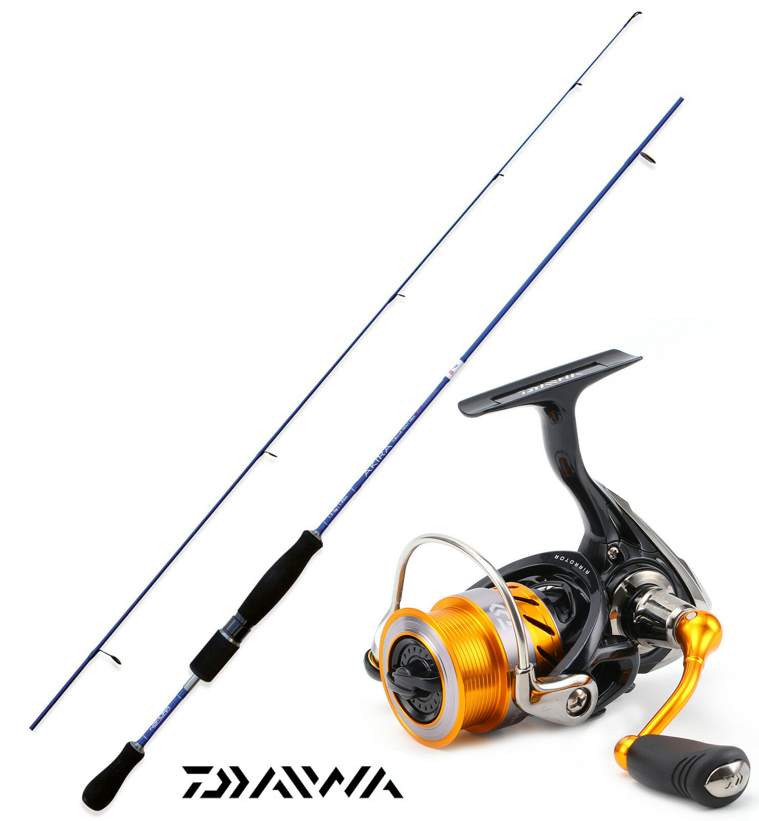 KP3534 Nomura Canna pesca Trout Area Akira tubolar 186 Daiwa Revros 1000 CSP