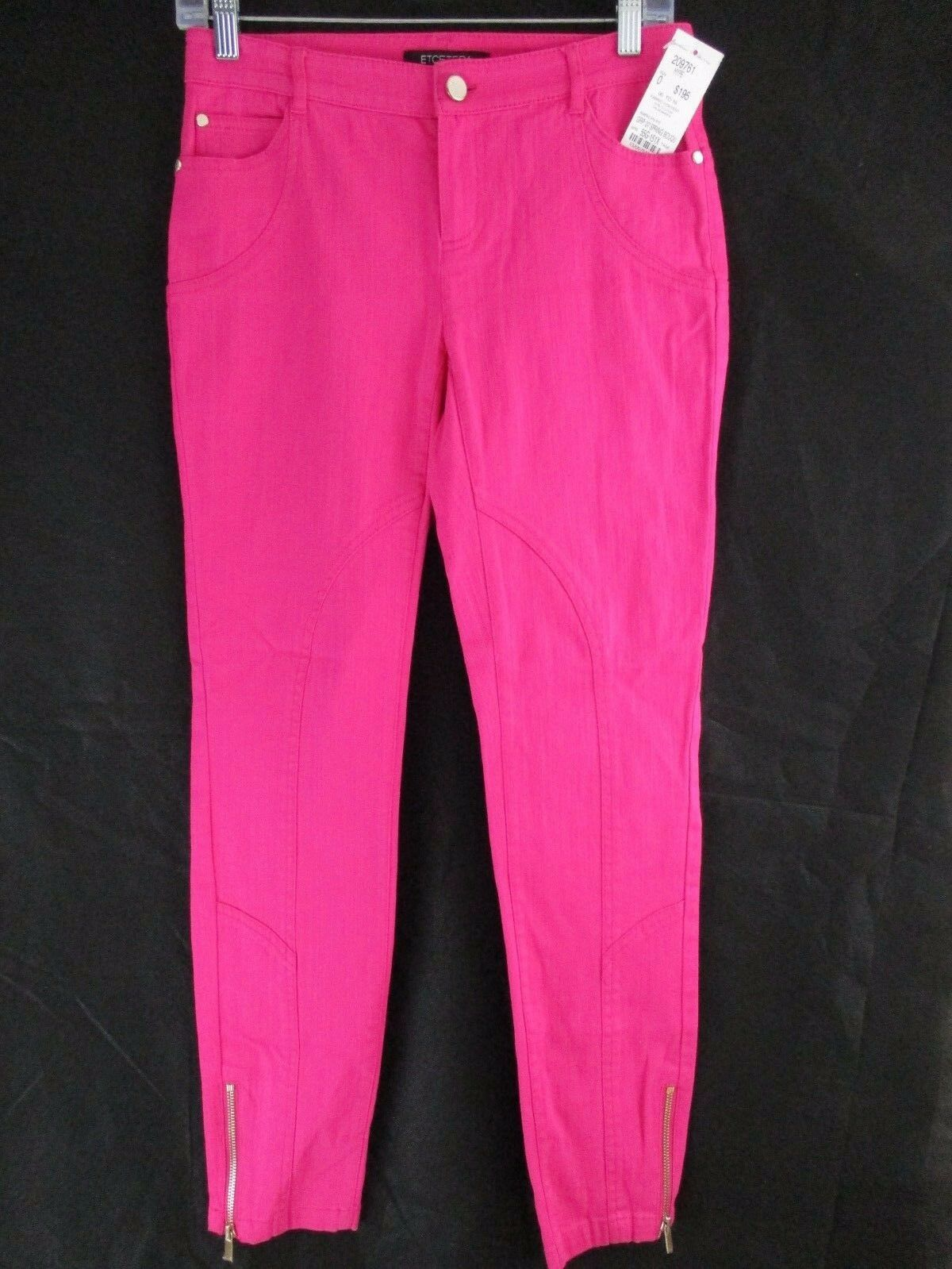ETCETERA WOMEN'S PASSION PINK MARILYN FIT PANTS SIZE  0     F1