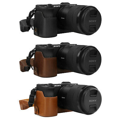 18-135mm MegaGear Ever Ready Leather Camera Case for Sony Alpha A6600
