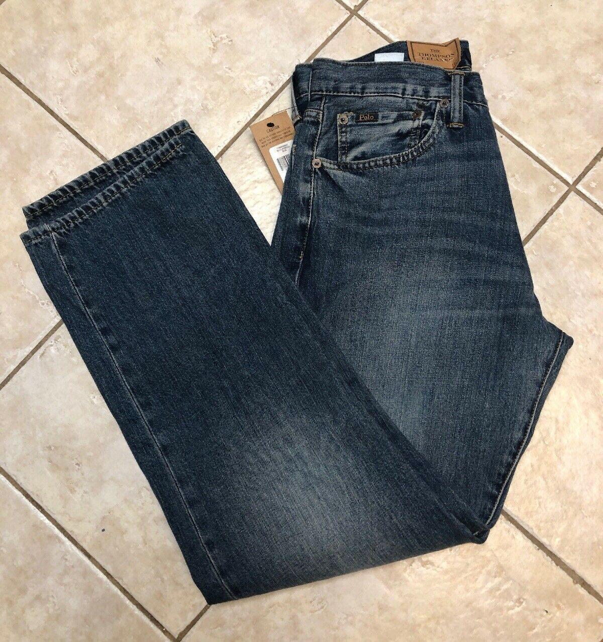 Polo Ralph Lauren Mens Jeans 32 32 Thompson Relaxed Fit Medium Wash NWT