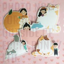 Cat Lover Memo Pad Pages Cute Sticky Note Stationary Kawaii Japanese Harajuku