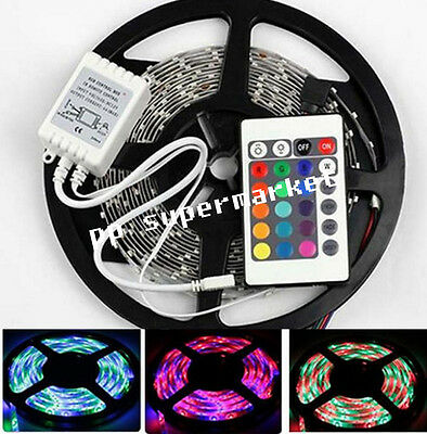 5M 300SMD 3528 RGB led strip light  + 24keys SMD IR Remote Controller