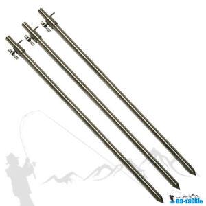 Haut-3x-Deluxe-Inox-Baton-de-Banque-75-120cm-Longueur-Support-de-Canne-a-Peche
