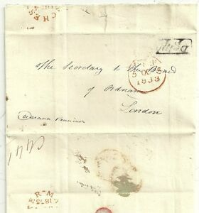 1833-DELPH-PENNY-POST-CROWN-FREE-LETTER-TO-BOARD-OF-ORDNANCE-RE-PAUPER-LUNATIC