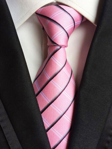 "XT179-196 Men Classic Striped Solid Dot Silk Tie Necktie JACQUARD Neck Tie 3.1/"""
