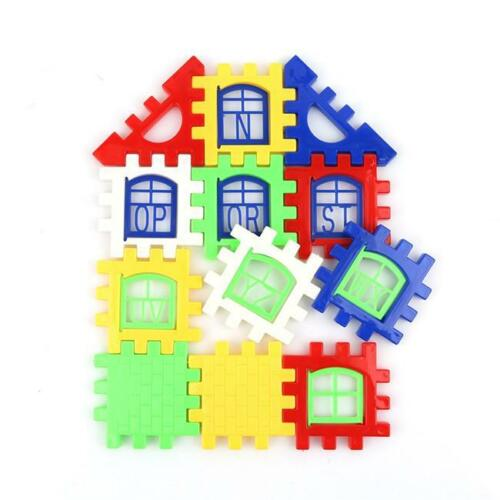 24pcs Baby Kids House Building Blocks Puzzle Educational Bricks Development  Toy