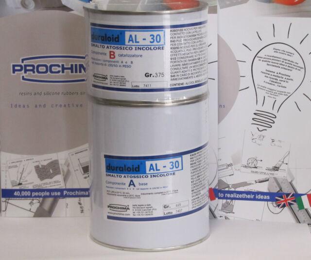 Prochima Duraloid AL-30 smalto atossico certificato incolore trasparente 1Kg A+B