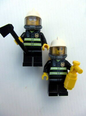 Good Condition       g77 LEGO MINIFIGS 2 FIREFIGHTERS